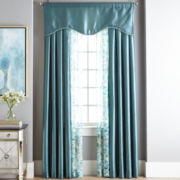 Liz Claiborne® Taffeta/Sabra Rod-Pocket Window Treatments