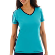 Made For Life™ Short-Sleeve Taped Mesh T-Shirt - Petite