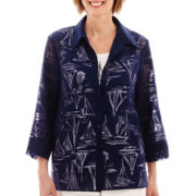 Alfred Dunner® American Dream 3/4-Sleeve Sailboat Burnout Layered Blouse