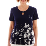 Alfred Dunner® American Dream Short-Sleeve Scenic Print Top