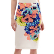 Worthington® Scuba Knit Print Pencil Skirt