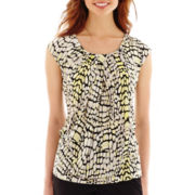 Worthington® Short-Sleeve Drape-Neck Top