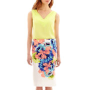 Worthington® V-Neck Blouse or Print Pencil Skirt