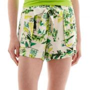 a.n.a® Sash-Tie Soft Shorts - Petite