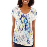 Liz Claiborne® Short-Sleeve Print T-Shirt