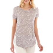 a.n.a® Short-Sleeve Side-Split T-Shirt - Tall