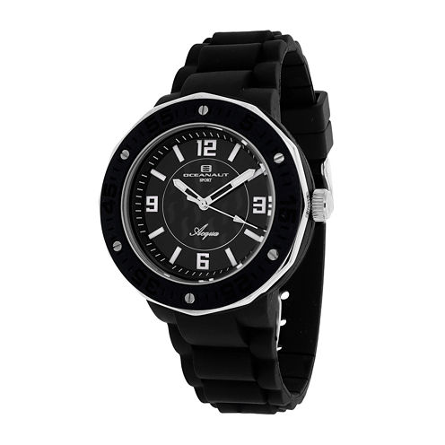 Oceanaut Acqua Womens Black Rubber Strap Watch