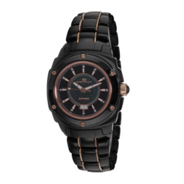 jcpenney.com | Oceanaut Ceramic Womens Black Mother-of-Pearl Bracelet Watch