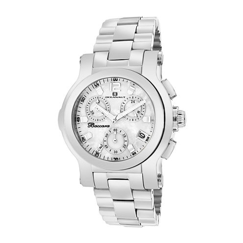 Oceanaut Baccara Mens Mother-of-Pearl Dial & Stainless Steel Watch