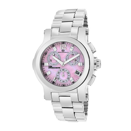 Oceanaut Baccara Womens Pink Dial Stainless Steel Bracelet Watch