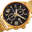 Akribos XXIV Mens Gold-Tone Mesh Bracelet Watch