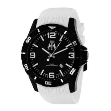 jcpenney.com | Jivago Ultiimate Mens Black Dial White Silicone Strap Watch