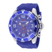 Seapro Diver Mens Blue Dial Blue Silicone Strap Watch