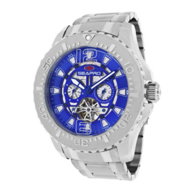 jcpenney.com | Seapro Tidal PX1 Mens Blue Dial Stainless Steel Bracelet Watch