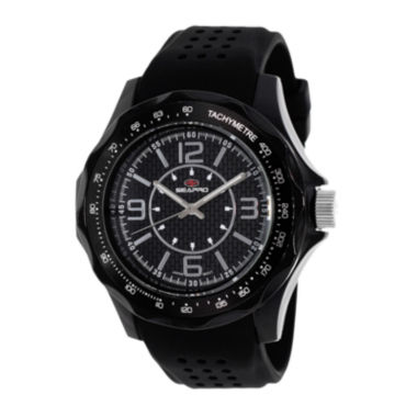 jcpenney.com | Seapro Dynamite Mens Black Dial Black Silicone Strap Watch