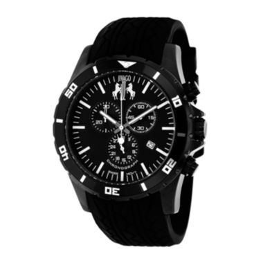 jcpenney.com | Jivago Ultimate Mens Black Dial Black Silicone Strap Watch