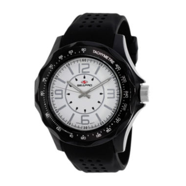 jcpenney.com | Seapro Dynamite Mens White Dial Black Silicone Strap Watch