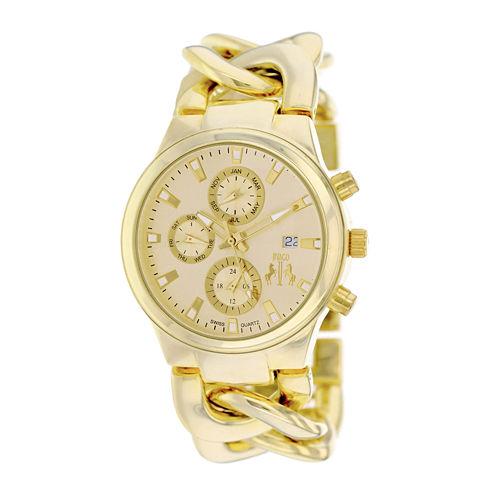 Jivago Lev Womens Gold-Tone Bracelet Watch