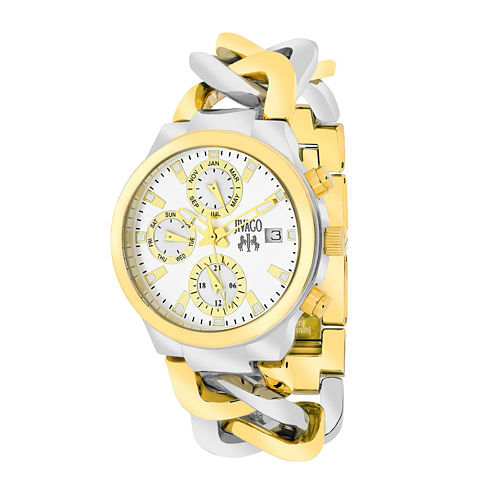 Jivago Womens Levley Two-Tone Stainless Steel Bracelet Watch