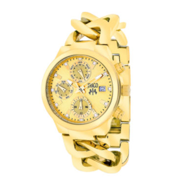 jcpenney.com | Jivago Womens Levley Gold-Tone Stainless Steel Bracelet Watch