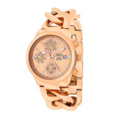 jcpenney.com | Jivago Womens Levley Rose-Tone Stainless Steel Bracelet Watch