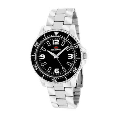 jcpenney.com | Seapro Tideway Womens Black Dial Stainless Steel Bracelet Watch