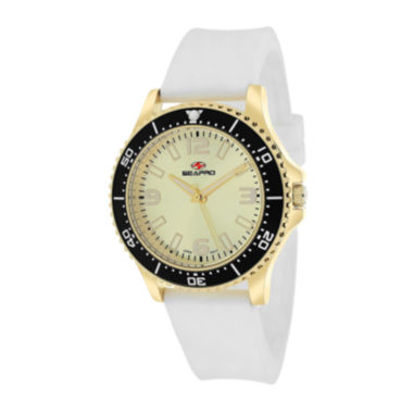 jcpenney.com | Seapro Tideway Womens White Silicone Strap Watch