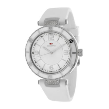 jcpenney.com | Seapro Womens White Ceramic and Stainless Steel Bracelet Watch