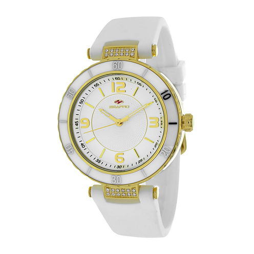 Seapro Seductive Womens White Ceramic Strap Watch