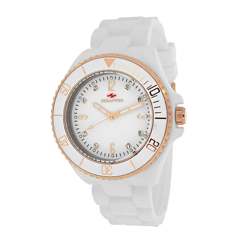 Seapro Sea Bubble Womens White Silicone Strap Watch