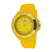 Seapro Sea Bubble Womens Yellow Silicone Strap Watch