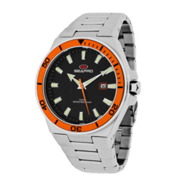 jcpenney.com | Seapro Storm Mens Silver-Tone Stainless Steel Watch