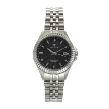 jcpenney.com | Croton Womens Diamond Accent Stainless Steel Bracelet Watch