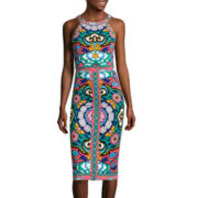 nicole by Nicole Miller® Sleeveless Print Block Dress
