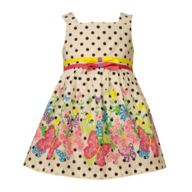 jcpenney.com | Bonnie Jean® Sleeveless Dot Butterfly Dress - Baby Girls newborn-24m