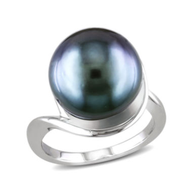 jcpenney.com | Genuine Black Tahitian Pearl Sterling Silver Ring