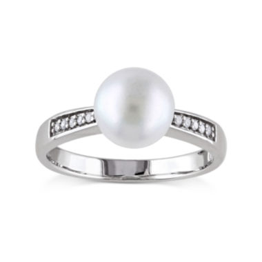 jcpenney.com | Cultured Freshwater Pearl and Diamond Accent Sterling Silver Ring