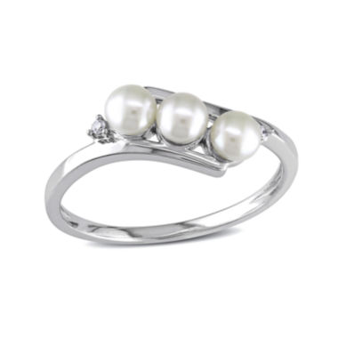 jcpenney.com | Cultured Freshwater Pearl & Diamond Accent 10K White Gold Ring