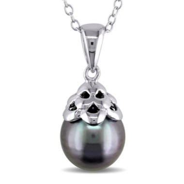 jcpenney.com | Genuine Black Tahitian Pearl Sterling Silver Pendant