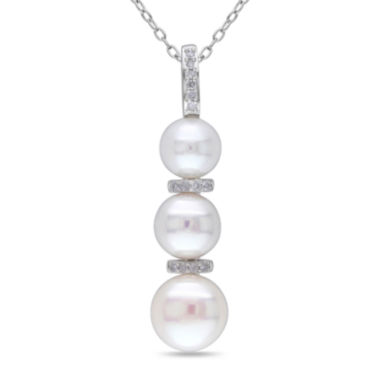 jcpenney.com | Cultured Freshwater Pearl & Diamond Accent Sterling Silver Pendant