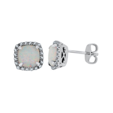 jcpenney.com | Lab-Created Opal & White Sapphire Sterling Silver Earrings