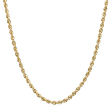 "jcpenney.com | 14K Gold Glitter Rope 18-30"" 1.75mm Chain"