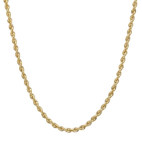 "14K Gold Glitter Rope 18-30"" 1.75mm Chain"