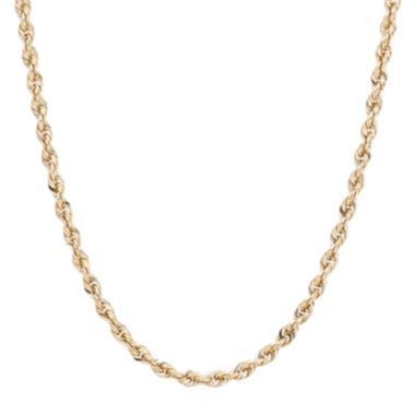 jcpenney.com | Infinite Gold™ 14K Yellow Gold Glitter Hollow Rope Chain