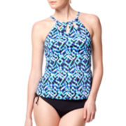 Jamaica Bay® Global Beat High-Neck Tankini Swim Top or Adjustable-Leg Brief Swim Bottoms