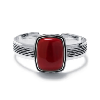 jcpenney.com | Simulated Red Jasper Sterling Silver Rectangular Cuff Bracelet