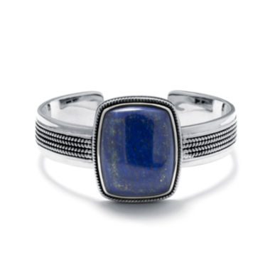 jcpenney.com | Dyed Blue Lapis Sterling Silver Rectangular Cuff Bracelet
