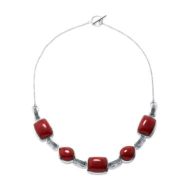 jcpenney.com | Simulated Red Jasper Sterling Silver Necklace