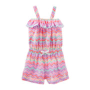 OshKosh B'gosh® Sleeveless Chevron Romper - Toddler Girls 2t-5t