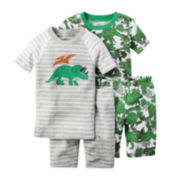 Carter's® 4-pc. Green Dino Pajama Set - Baby Boys newborn-24m